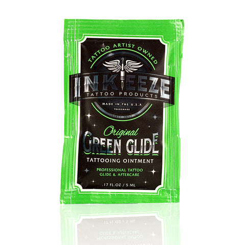 INK-EEZE's Green Glide 5ml Packet Tattoo Ointment