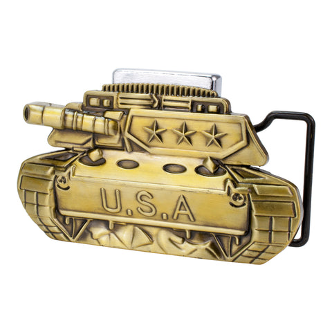 Mens USA Tank w/ Removable Lighter Belt Buckle Antiqued
