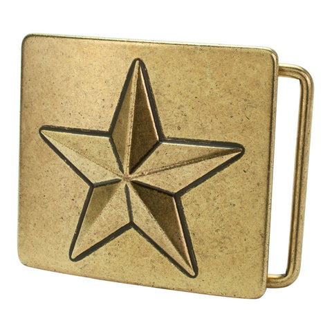 Buckle Rage Square Shaped Mens Nautical Star Celtic Ocean Sea Design Belt Buckle