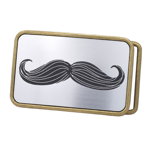 Mens Hipster Mustache Aluminum Gentleman's Fancy Belt Buckle