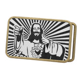 Unisex Buddy Catholic Savior Dogma Jesus Christ Belt Buckle