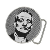 Unisex Bill Murray Vector Graphic Rounded Circular Belt Buckle