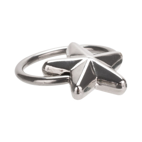 Stainless Steel Eyebrow Ring Nautical Star 11mm 16G
