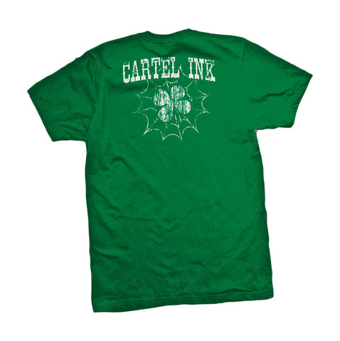 Cartel Ink Men's Green 100% Cotton T-Shirt Kiss Me I'm Tattooed Tee Shirt SM-2XL