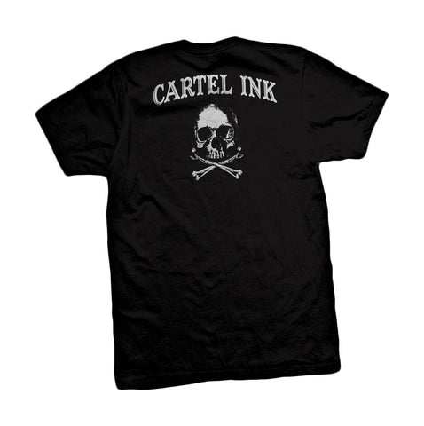 Cartel Ink Tattooed For Life & Beyond Tattoo Men's Black Crew Neck Shirt SM-2XL