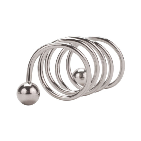 Helix 6 Spiral Stainless Steel Cartilage Piercing Pair
