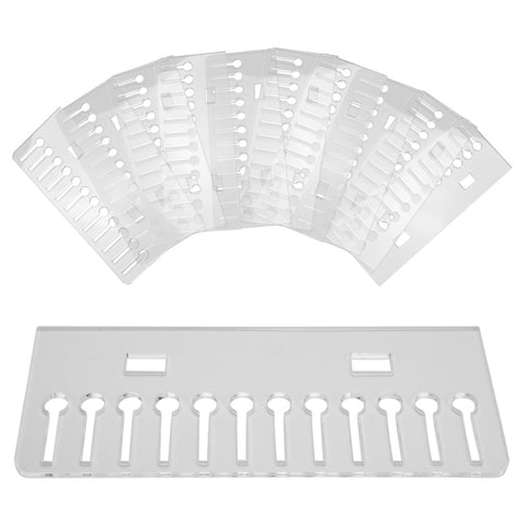 Set of 10 Clear Acrylic Tray Inserts for Earring Piercing Jewelry Display