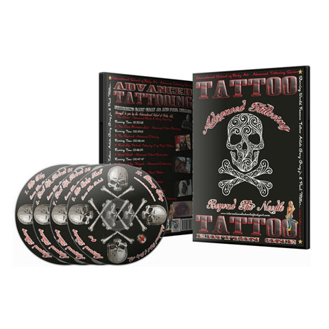 12 Hour Professional ADVANCED Tattoo Course 10 Videos on 4 DVD