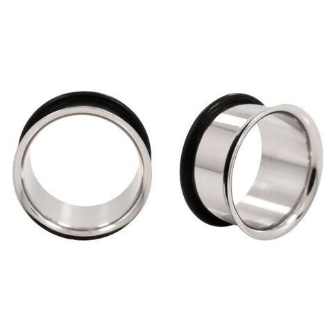 PAIR Single Flare Ear Tunnel Flared Earlet 8g - 5/8""