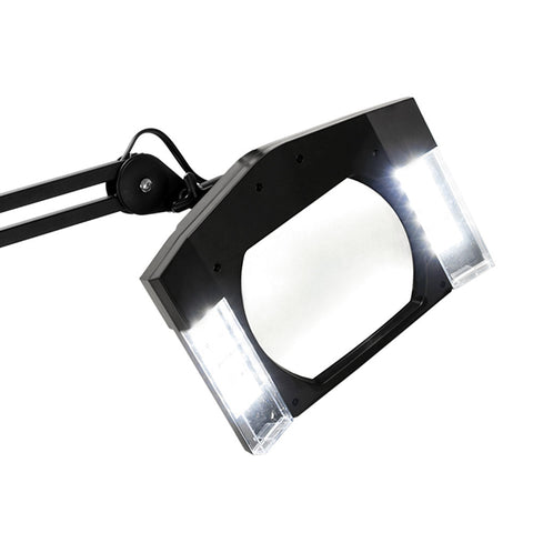 BLACK Adjustable SQUARE Magnifying Glass Lamp for Tattoo Shop