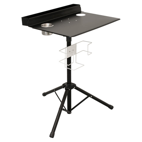 Portable Tattoo Workstation Studio Compact Stand Table Travel Desk Tray Black