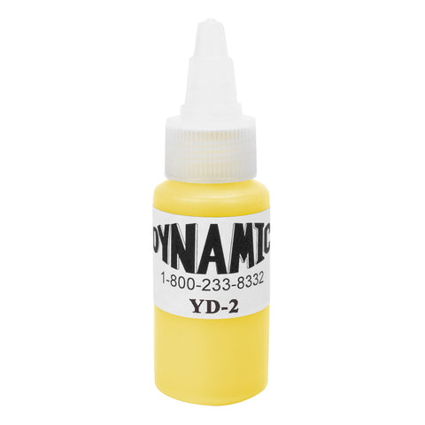 Dynamic Tattoo Ink Color Lemon Yellow 1oz - Piercing Pros