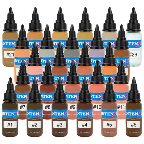 Intenze Randy Engelhard Artist Series Tattoo by Number Flesh Tone 26 Ink Set 1oz
