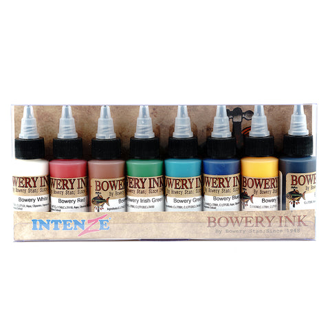 Intenze Authentic Tattoo Ink Bowery Collection Stan Moskowitz 8 Bottles 1oz