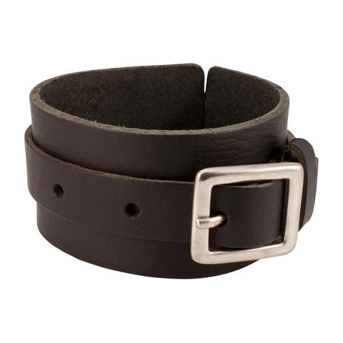 Distressed Black Vintage ITALIAN Leather Bracelet Unisex 4BL