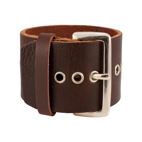 Distressed Brown Vintage ITALIAN Leather Bracelet Unisex 6BR