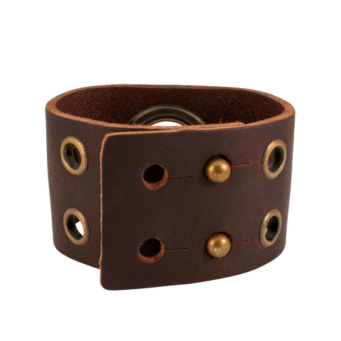 Distressed Vintage ITALIAN Leather Bracelet Unisex 8BR