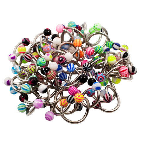 Wholesale LOT 50 TWISTER 14g Belly Ring Body Jewelry