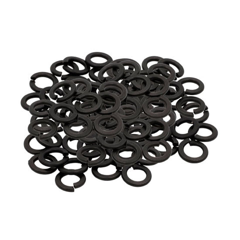 "1/16"" Black Oxide Medium Split Tattoo Machine Lock Steel Washers Pack 10 Pieces - Piercing Pros"