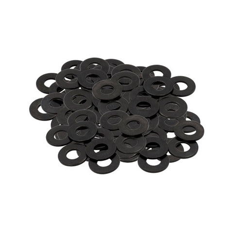 "#8 Black Oxide Tattoo Machine Screw Flat Washers LOT 10 3/8"" OD 5/32"" ID Pack - Piercing Pros"