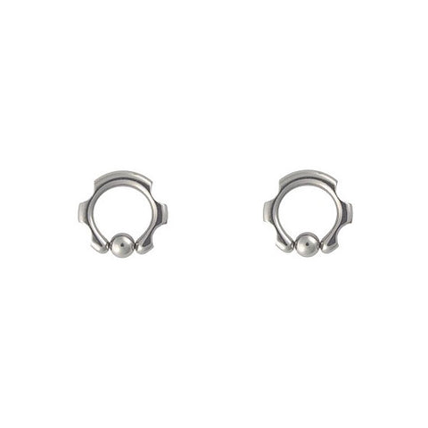 PAIR 8g CUT CBR Captives 8 Gauge Piercing Body Jewelry