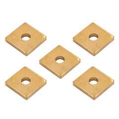 "LOT 5 Brass 5/8"" Square Washers #8 Tattoo Machine Saddle Spring Deck USA MADE"