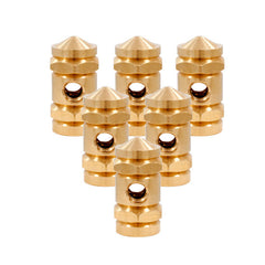 Lot of 6 Raw Brass Front Binding Post for Tattoo Machine Lock Nut Binder Part
