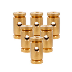 Lot of 6 Raw Notched Brass Front Binding Post Tattoo Machine Lock Nut Binder