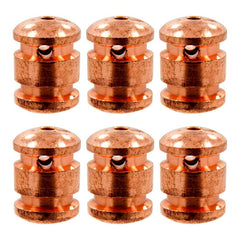 Lot of 6 Raw Copper Rear Binding Post Tattoo Machine Custom Replacement Binder - Piercing Pros