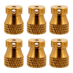 Lot 6 Raw Knurled Brass Rear Binding Post Tattoo Machine Replacement Part Binder