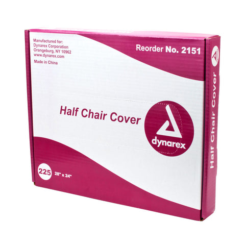 Dynarex Half Chair Cover Disposable Barrier Film Transparent 225 Pcs