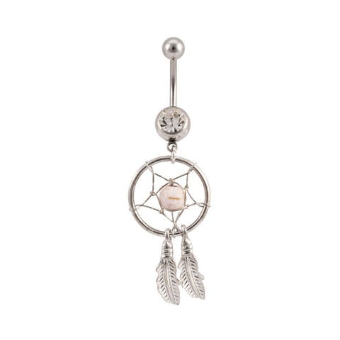 Clear Dream Catcher Navel Ring Belly Rings Body Jewelry