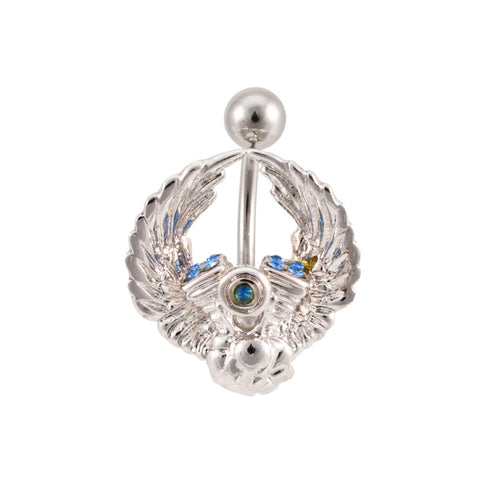 Winged V-Twin Engine Gem Navel Belly Ring wing NEW