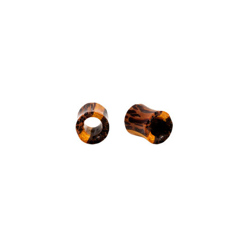 PAIR 3 Wood Organic Earlet Tunnel Plugs 100% Natural Flesh