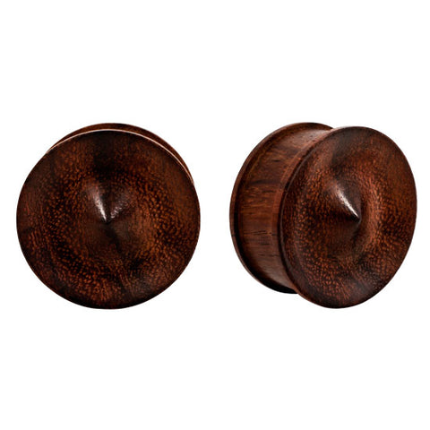 PAIR 100% Natural Sono WOOD Organic Spike Plugs Earlets Flesh Rare Unique