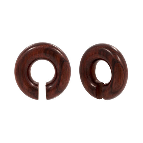 UNIQUE Pair ZULU Open Ring Sono Redwood Organic Plugs Flesh