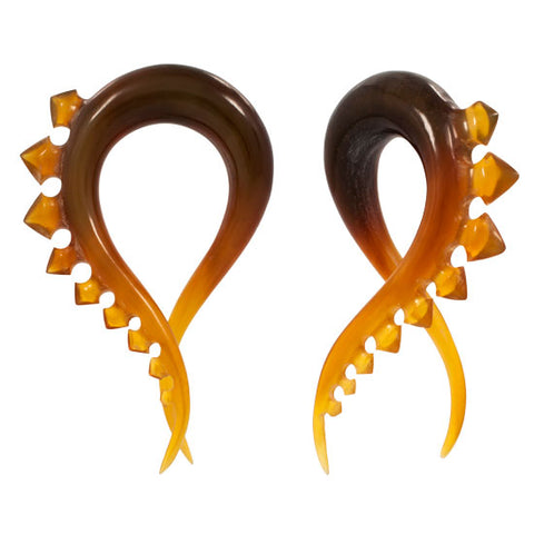 RARE Organic Spinal Golden Blond Horn Hanger HANG PLUGS Flesh Rare Unique
