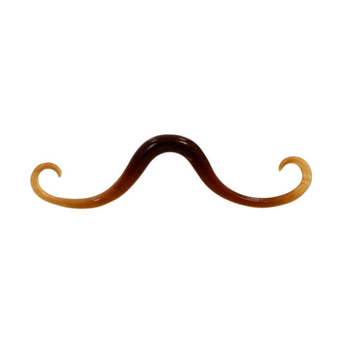 6g 4mm Organic  Curved Mustache Septum Golden Horn Body Jewelry Hipster Piercing - Piercing Pros