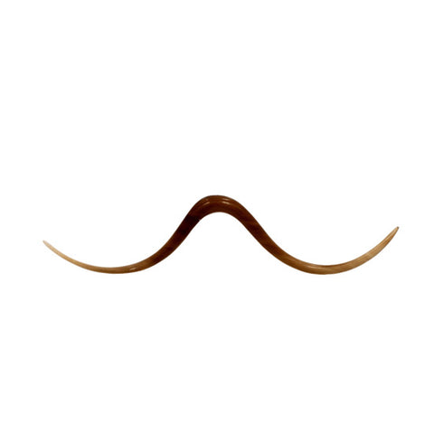 8g 3mm Organic Golden Horn Pointed Septum Mustache Body Jewelry Hipster Piercing - Piercing Pros