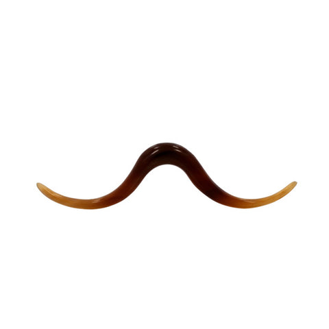 4g 5mm Septum Hipster Mustache Organic Golden Horn Pointed Body Jewelry Piercing - Piercing Pros