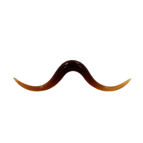 2g Pointed Mustache Organic Golden Horn Septum Hipster Body Jewelry Piercing - Piercing Pros