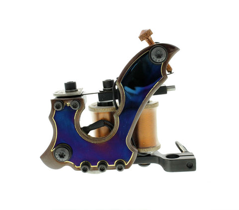 Baltimore Street Irons Swerve 2-Tone Copper/Steel Shader Tattoo Machine - Piercing Pros