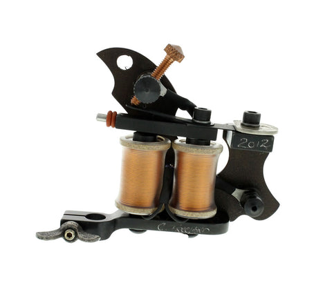 Baltimore Street Irons Handmade 8W Polished/Heated Swerve Liner Tattoo Machine