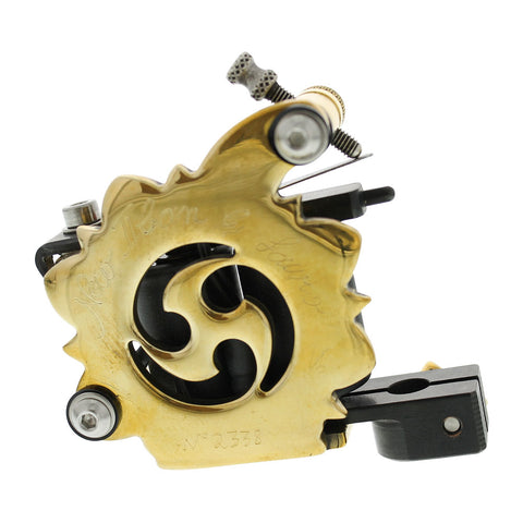 Lauro Paolini Custom Hand Made Iban Brushed Brass Tattoo Machine Shader