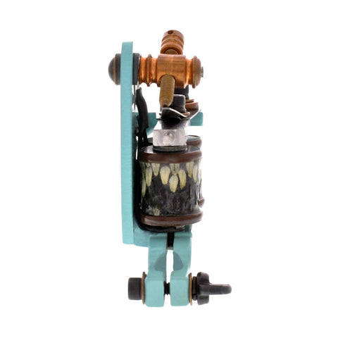 "Painful Irons Baby Jensen Custom Shader Tattoo Machine Snakeskin Coils 1"" 8W"