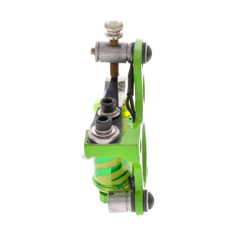 "Painful Irons Green 6 Hole Liner Tattoo Machine Zebra Print Coils 1.25"" 8W"