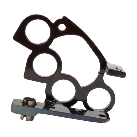 Blued Steel Custom Tattoo Machine Frame Brass Knuckles Liner Build Part Handmade