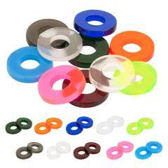 "Painful Irons Plastic Replacement Coil Washers for 5/16"" Core Pack of 20 - Piercing Pros"
