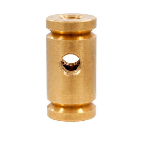 Lot of 6 Raw Notched Brass Front Binding Post Tattoo Machine Lock Nut Binder - Piercing Pros