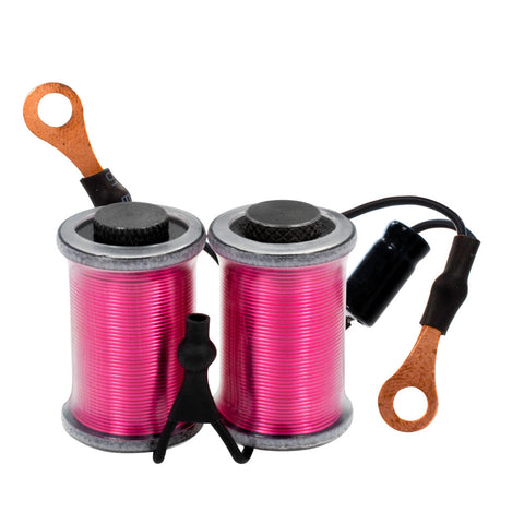 "8W Ringmaster Irons Tattoo Machine Hand Wired Pair Coils 1 1/4""  Round Top PINK"